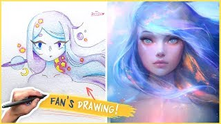 DRAWING A FAN'S CHARACTER!