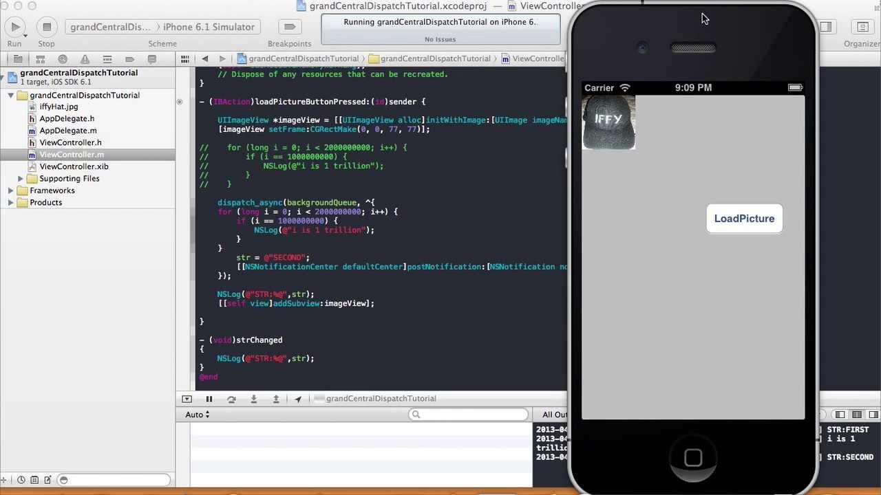 Background image xcode 6 - Background Queue Objective C Blocks Xcode 4 6 1