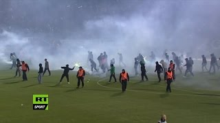 Fan Riot leads to Panathinaikos v Olympiakos being abandoned