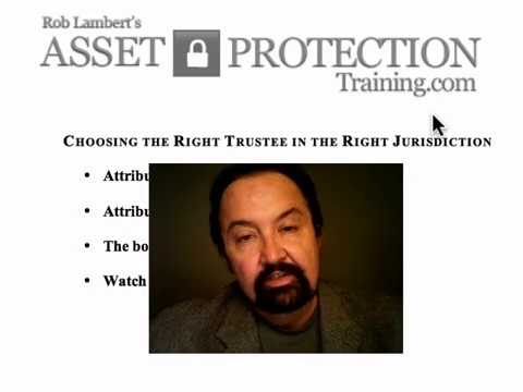 Jurisdiction trustee selection asset protection trust - Beli