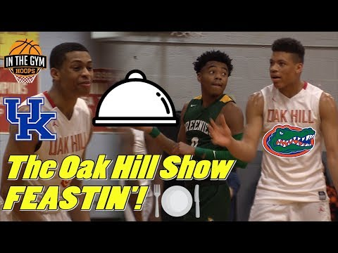 The Oak Hill Show TAKES ON Jalen Lecque and Christ School! Players FEASTIN'!