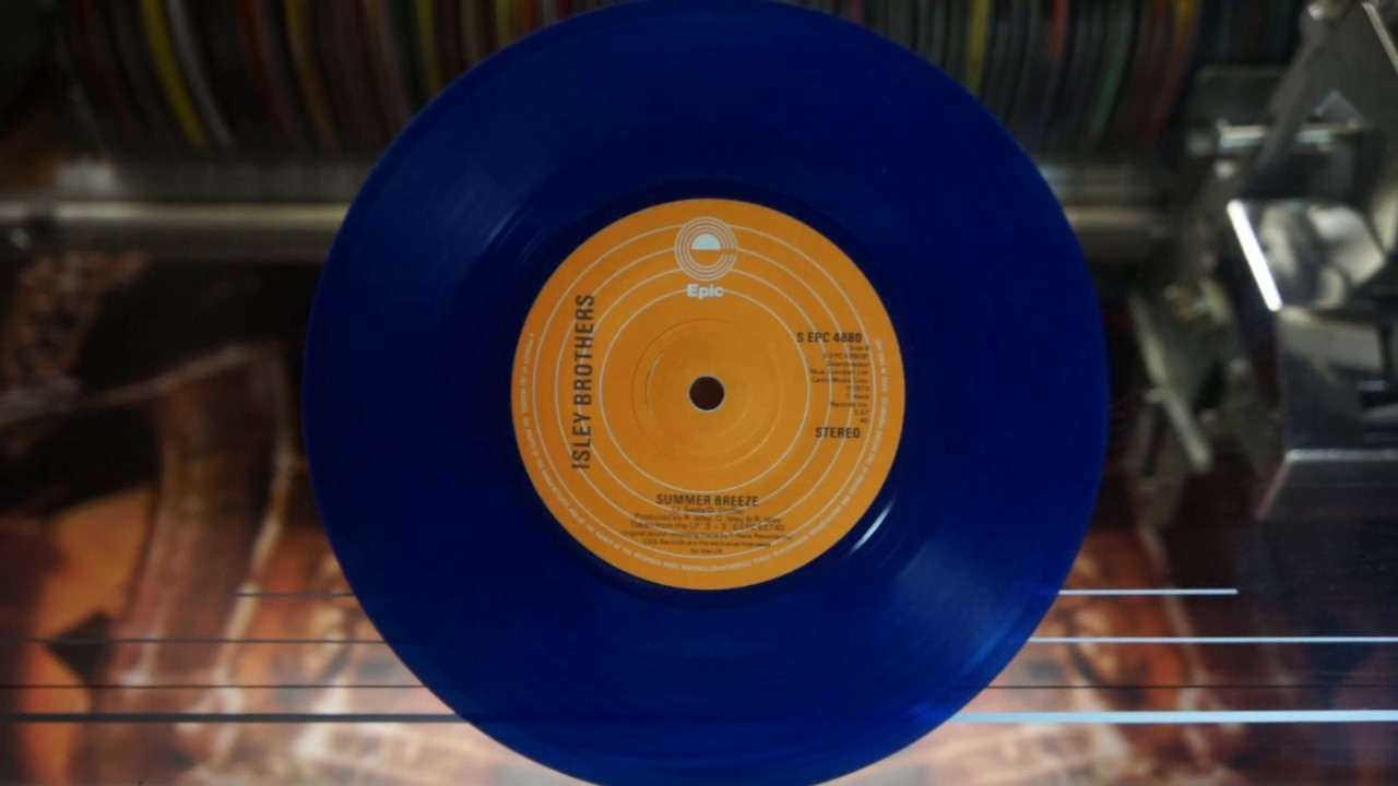 Jonnie's Jukebox Plays: Summer Breeze - The Isley Brothers 1973. Blue Vinyl 45rpm Record