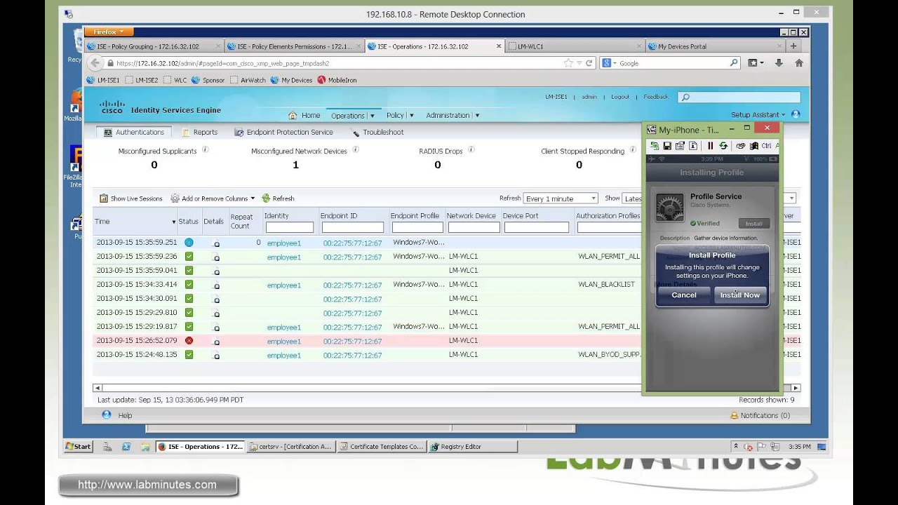 LabMinutes# SEC0113 - Cisco ISE 1 2 BYOD Wireless Onboarding Single SSID  (Part 3)