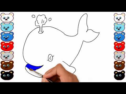 How to Drawing Fish & Coloring Pages for Kids, Learning Videos for Children, Sea Fish Coloring Pages