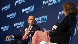 Amcham Brasil   Diálogo Empresarial - Wilbur Ross, Secretário do Comércio dos EUA, e Deborah Vieitas