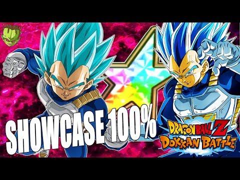 100% RAINBOW SUPER SAIYAN BLUE EVOLUTION VEGETA SHOWCASE /// Dokkan Battle en Español