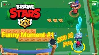 250 IQ PRO VS -10 IQ Noob (Brawl Stars Funny Moment , glitch , fail)#1
