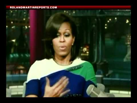 First Lady Michelle Obama On The David Letterman Show