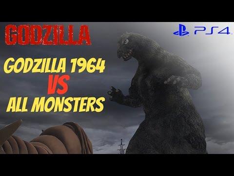 Godzilla The Game (PS4) - Godzilla 1964 Vs. All Monsters [1080p 60fps]