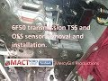 6F50 transmission TSS and OSS sensor removal and installation