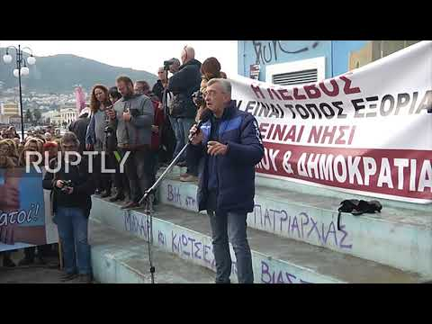 Greece: 'Lesbos is an island prison' - Striking residents warn of refugees
