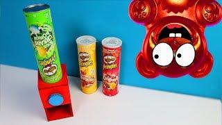 Pringles Maschine aus Pappe selber mit  Lucky Bär bauen - DiY