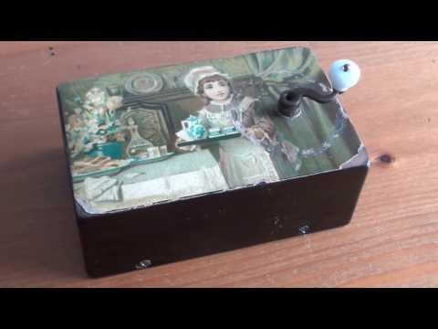 JaWo Antique music box manivelle 1900