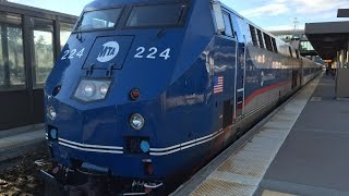 Metro-North Railroad & Amtrak HD 60fps: GE P32AC-DM Push-Pull Action @ Croton-Harmon 6/29/15
