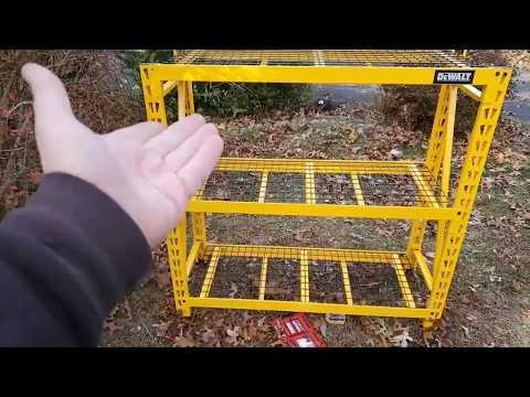 Dewalt Titan Storage Rack Assembly And First Impressions