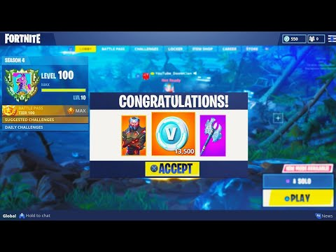 what happens AFTER LEVEL 100 in Fortnite: Battle Royale (SEASON 4)