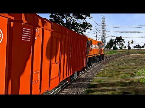 Goods Train Departure From Daund Jn || MSTS In Open Rail
