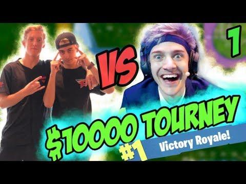 FaZe Cloak & FaZe Tfue vs Ninja & King Richard for 10,000$! Game 1/3!