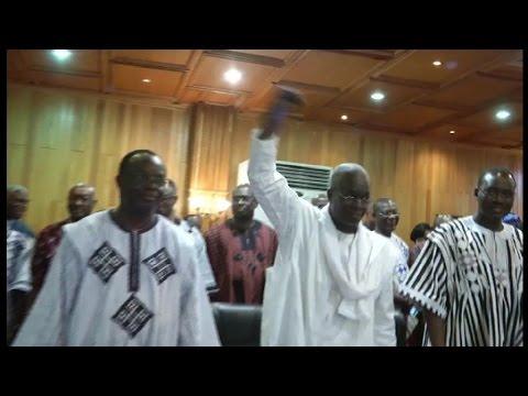 Burkina faso, Le Président Michel Kafando reprend ses fonctions