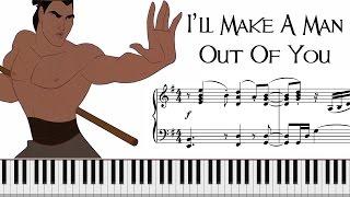 i ll make a man out of you from mulan sheet music