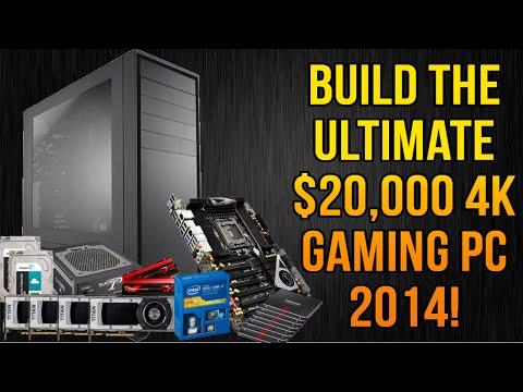 BUILD THE ULTIMATE $20,000 4K GAMING PC 2014! (4960x, GTX titan black Quad sli!)