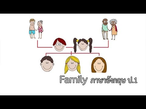 ภาษาอังกฤษ ป.1 Family ครูนงเยาว์ ลือขจร