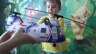 Toy Police Helicopter.  Videos for Children. Review  Police Helicopter  at Bogdan`s Show.