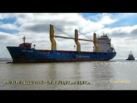 BBC ELBE V2GP2 IMO 9347059 Emden cargo seaship merchant vessel Seeschiff