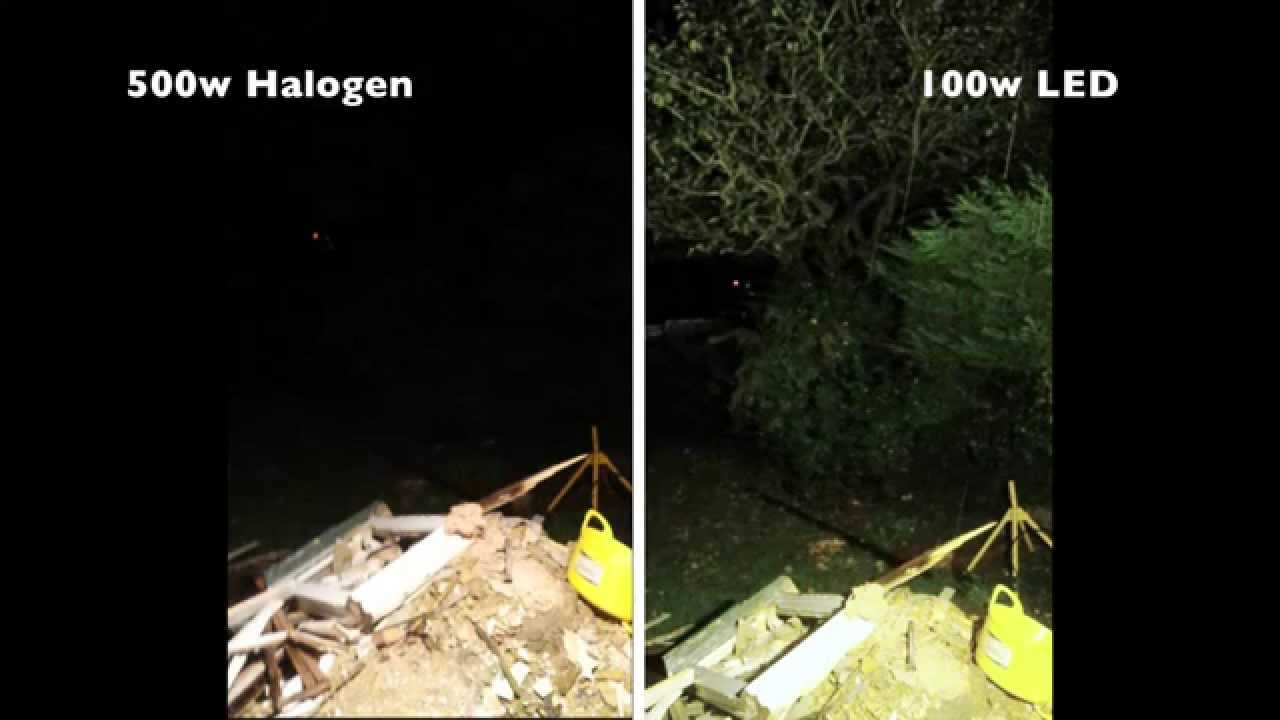 projecteur led vs halogen