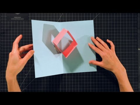 How To Make A Box Pop Up Card Pop Up Cards Youtube