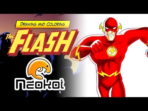 Drawing The Flash | Dibujando a Flash (Justice League Unlimited)