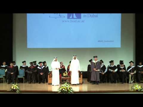 The British University in Dubai Graduation 2015