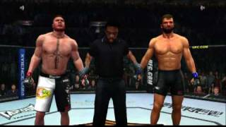 UFC 2009 Undisputed Xbox 360 Gameplay Lesnar vs Arlovski