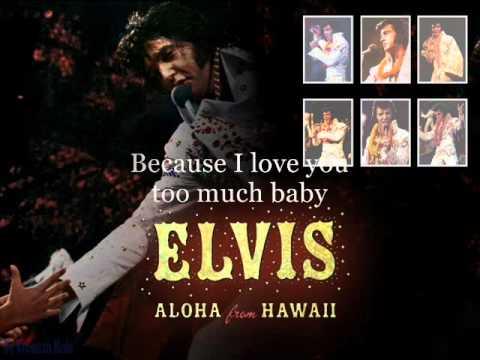 Elvis Presley Suspicious Minds 1973, Aloha From Hawaii Instrumental With Lyrics