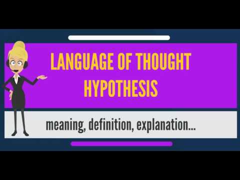 What is LANGUAGE OF THOUGHT HYPOTHESIS? What does LANGUAGE OF THOUGHT HYPOTHESIS mean?