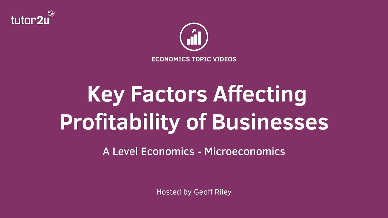 variables affecting profitability growth in Five factors affecting revenue growth  find out what factors lead to high growth and revenues get the in- depth report in your inbox today send.
