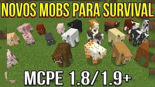 SAIU! NOVOS MOBS NO MINECRAFT PE 1.9.0.0 - Domestic Mobs Addon MCPE 1.8./1.9+ (Pocket Edition)
