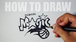 How to Draw a Cartoon - Orlando Magic Logo (Tutorial Step by Step)