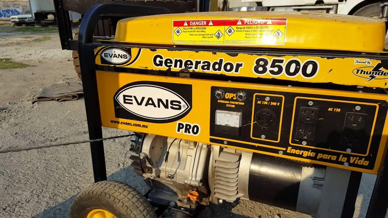 Generador de luz evans 8500 watts motor thunder 16 hp - Generador de luz ...