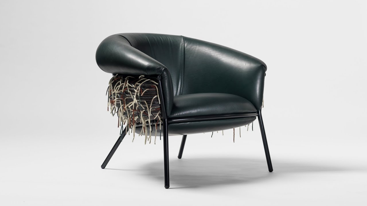chair design bd bistro table with chairs stephen burks uses bolon textiles to create shaggy for barcelona