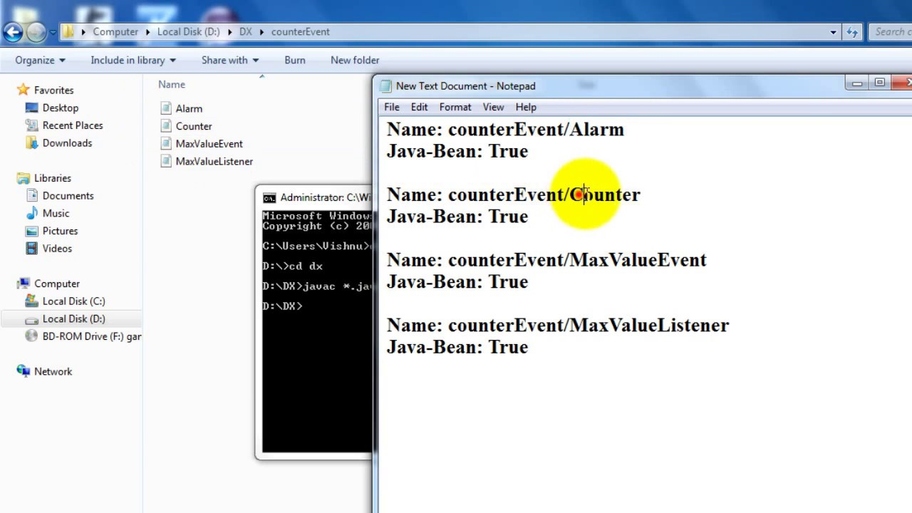 Java bean user defined events example youtube java bean user defined events example baditri Gallery