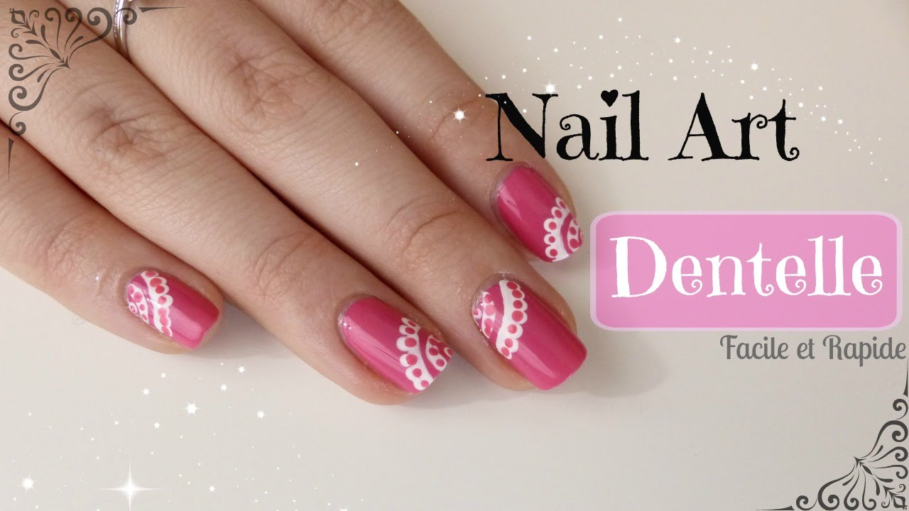 Nail art dentelle d butant youtube - Nail art debutant ...