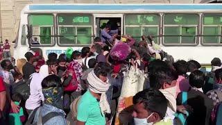 Pandemonium in Delhi as stranded workers flee