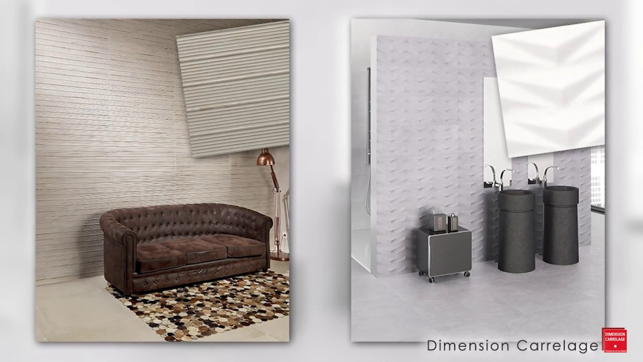 dimension carrelage carrelage mural effet 3d youtube. Black Bedroom Furniture Sets. Home Design Ideas