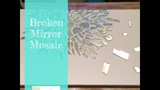 DIY Broken Mirror Mosaic