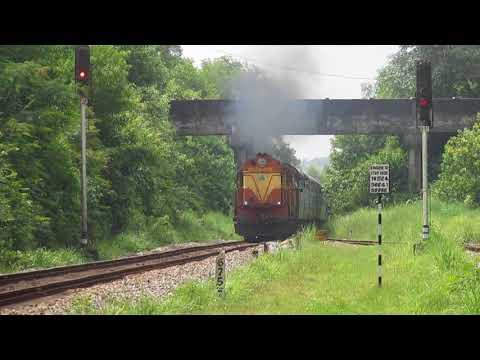 22636 Mangaluru Central-Madgaon INTERCITY Express crossing DEMU!