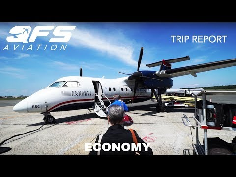 TRIP REPORT | US Airways - Dash 8 100 - Islip (ISP) to Philadelphia (PHL) | Economy