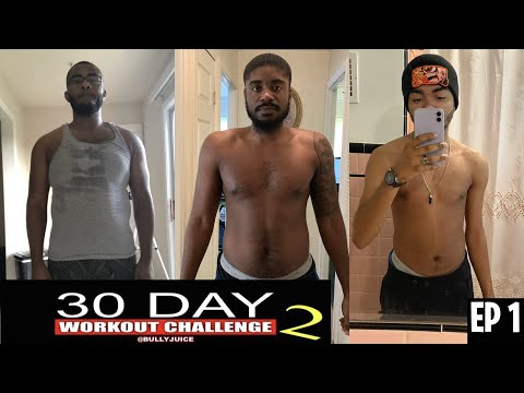 BullyJuice 30 Day At Home Workout Challenge! (With Meal Plan) EP 1
