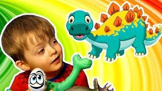 Детям про Динозавров  Челлендж Угадай Динозавра Загадки для Детей про Животных ТИРАННОЗАВР Lion boy