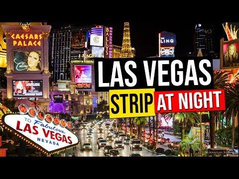 LAS VEGAS STRIP AT NIGHT, Nevada, USA.